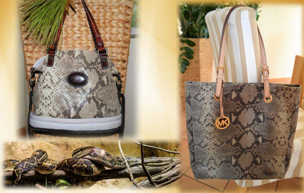 Taschen mit Snake-Print