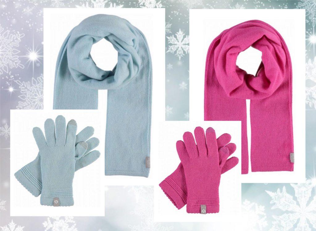 Herbst-Accessoires Schals und Handschuhe
