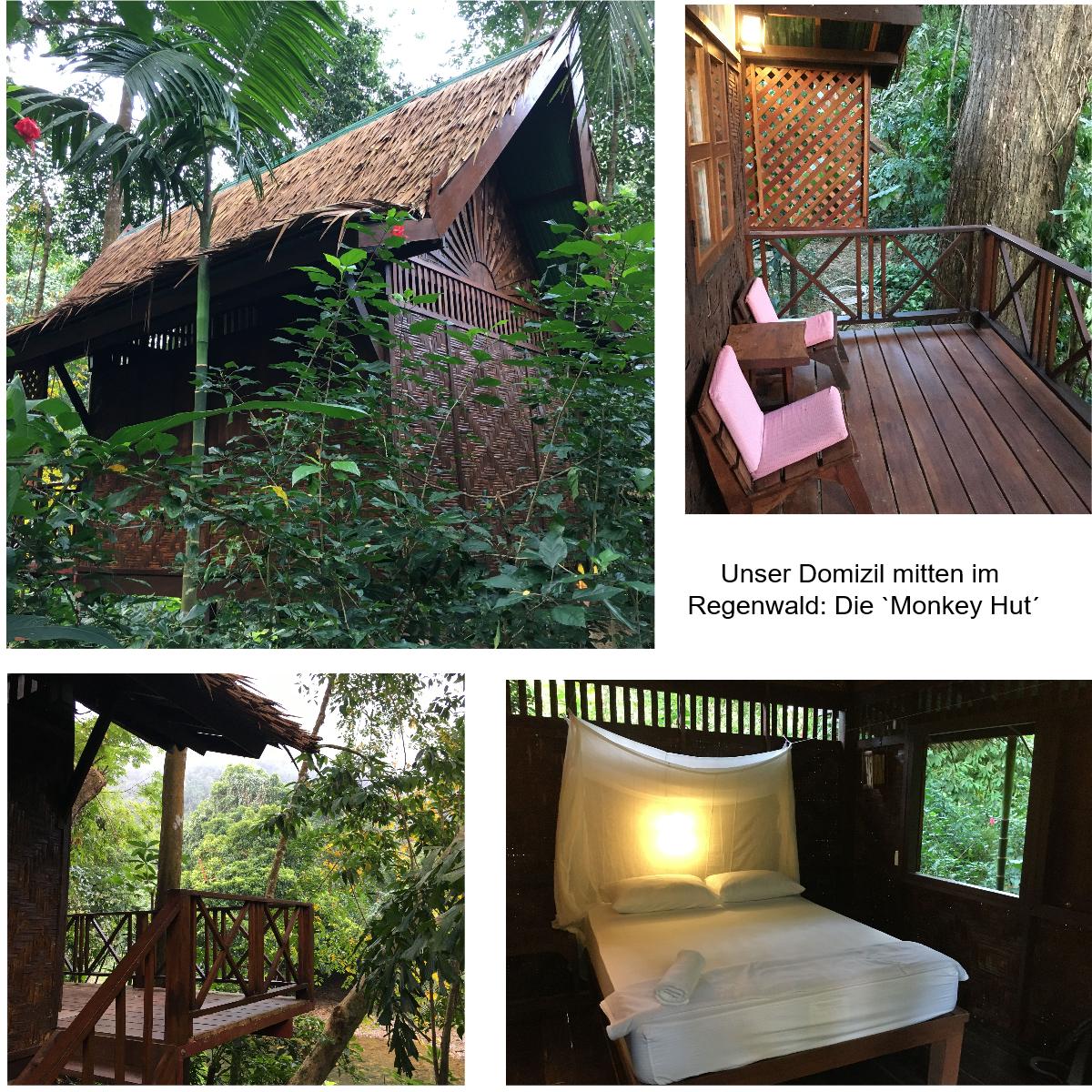 Monkey Hut in Khao Sok
