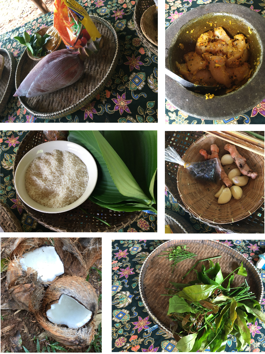 Zutaten Jungle Cooking Thailand Khao Sok